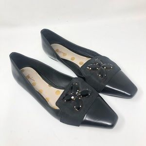 BODEN PATENT LEATHER JEWELED FLATS